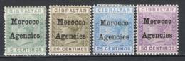 Marocco 1898 Y.T.1,3,4,6 */MH VF/F - Morocco Agencies / Tangier (...-1958)
