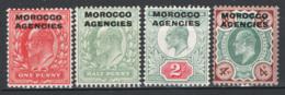 Marocco Uff.Gen1907 Y.T.1/4 */MH VF/F - Postämter In Marokko/Tanger (...-1958)