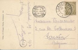 Luxembourg – CV Wolfsschlucht Bei Echternach – La Rochette 20 8 13 Vers Bruxelles 21 VIII 1913 - 1907-24 Wapenschild