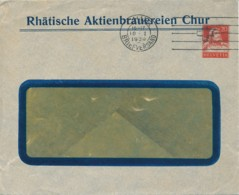 Suisse – L Affranchie Sur Commande – Brasserie Chur – 10 I 1930 - Postwaardestukken