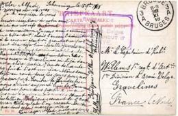 CV Brugge 22 XI 18 écrit Scheveningen 15 Sept - Bureau De Renseignement Des Refugiés Belges La Haye - Belgisch Leger