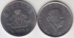Principato Di Monaco 2 Francs 1979 Km#157 - Used - Monaco