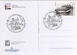 Italia 2016 Montagnana (PD) 100° Prima Guerra Mondiale World War I Annullo Cartolina Dedicata - WO1