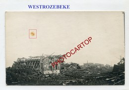WESTROZEBEKE-Carte Photo Allemande-Guerre 14-18-1WK-Militaria-BELGI EN-BELGIQUE-Flandern- - Staden