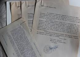 Attestations Participation à La Résistance Roux Commandant CRS Limoges Bertrand René Falaise Guerre WWII 39-45 - 1939-45