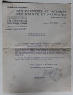 Attestation Participation à La Résistance Bonnin Marcel FNDIRP Limoges Bertrand René Falaise Guerre WWII 39-45 - 1939-45