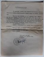 3 Attestation Participation Résistance Léonie Chef Mouvements Unis De Résistance Limoges Bertrand René Falaise WWII - 1939-45