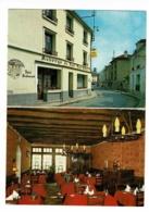 """Carte Double Format 7.5 X 10.5 Cm """"Auberge Du Pont Dam'Gilles"""" Crecy En Brie (77) Hôtel-Restaurant M. Theuillon - Publicité"""
