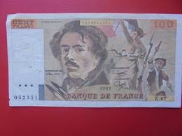 FRANCE 100 FRANCS 1983 CIRCULER (B.9) - 100 F 1978-1995 ''Delacroix''