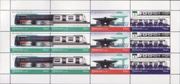 Malaysia 2017 S#1689-1691 MRT Full Sheet MNH (strip) Transport Train Railway Bus Disabilities Disabled - Malaysia (1964-...)