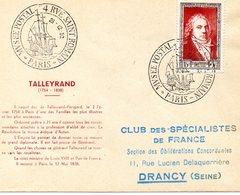 1952   Paris  Talleyrand - FDC