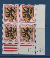 "FR Coins Datés YT 602 "" Armoiries, Flandre "" Neuf** Du 15.2.44 - 1940-1949"