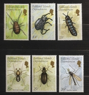 Falkland 1982 N° 105 / 10 ** Insectes, Coléoptères, Gamasellus, Acarien, Alaskozetes, Cryptopygus, Araignée, Moustique - Géorgie Du Sud