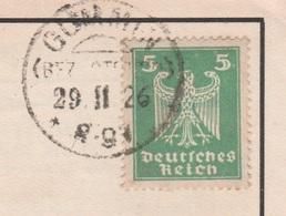 Deutsches Reich Karte Mit Tagesstempel Gummin Bz Stettin 1926 KOS Stempel - Deutschland