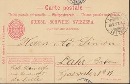 SCHWEIZ  MiNr. P 31 VII, DV: VIII 06, Mit Stempel: Locle 10.V.1907 - Ganzsachen