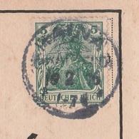 Deutsches Reich Karte Mit Tagesstempel Haina Grabfeld 1916 KOS Stempel - Covers & Documents