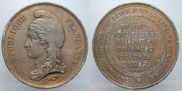 Medaglia MEDAILLE REPUBLIQUE FRANCAISE 1871 COLONEL DUBAR DEFENSE DE LA PATRIE D.461 - Monarchia / Nobiltà