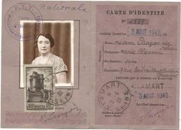 N° 393 SEUL CARTE D'IDENTITE CLAMART 3.8.1939 AU TARIF RARE - Storia Postale