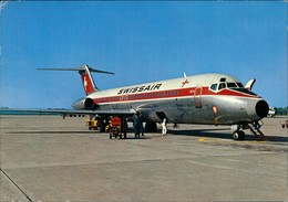 Mailand Milano Flughafen Mailand-Linate DC 9 Swissair Flugzeug 1988 - Italy