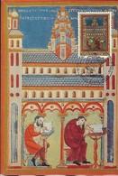 20-7.1996  -  Basilique St.Willibrord , Echternach - Le Scriptorium Au 11 E Siècle - 2 Scans - Cartes Maximum
