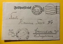 9558 - Feldpostbrief Kais.Deutsche Feldpost 23.04.1918 - Covers & Documents