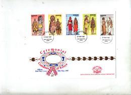 Lettre Fdc 1987 Costumes Ceremonies - Kenia (1963-...)
