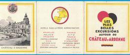 DEPLIANT 3 VOLETS CHATEAU D'ARDENNE RESTAURANT HOTEL GOLF - Advertising