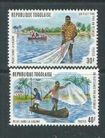Togo  N° 809 / 10 XX Pêche Dans La Lagune. Les 2 Valeurs Sans  Charnière, TB - Togo (1960-...)