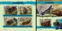 Guinea 2019, Meteorites And Dinosaurus, 4val In BF +BF - Afrika