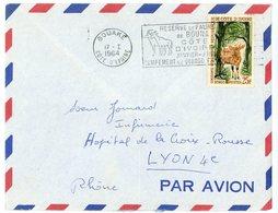 COTE D'IVOIRE ENV 1964 BOUAKE LETTRE AVION - Costa De Marfil (1960-...)