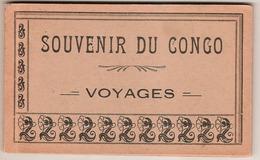 SOUVENIR DU CONGO.VOYAGE.:CARNET EN BON ETAT DE 10 JOLIES CARTES TIMBREES ET AFFRANCHIES - Congo Francés - Otros