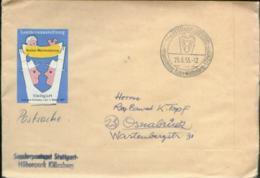 09967 BRD Postsache Austellung Vignette Stuttgart 1955 - BRD