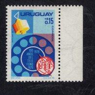 891144961 1976 SCOTT 939 POSTFRIS MINT NEVER HINGED EINWANDFREI (XX) - TELEPHONE CENTENAIRE - Uruguay