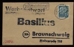 S5342 - BRD Briefumschlag Mit Landpoststempel: Gebraucht Wulfsbüttel über Osterholz Scharmbeck - Braunschweig 1957, Be - [7] West-Duitsland