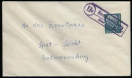 S6736 - BRD Briefumschlag Mit Landpoststempel:gebraucht Emtmannsberg über Bayreuth 1958 , Bedarfserhaltung. - Storia Postale