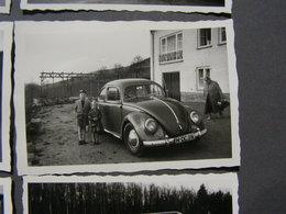 Oldtimer VW Käfer ,  6 Alte Fotos Aus Ca. 1959 - Automobile
