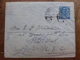 REGNO - Lettera Spedita In U.S.A. Nel 1904 Con Annulli Arrivo + Spese Postali - 1900-44 Victor Emmanuel III.