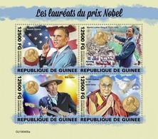 Guinea 2019, Nobel Prixe, B. Dylan, MLK, 4val In BF - Martin Luther King