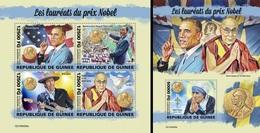Guinea 2019, Nobel Prixe, Obama, 4val In BF +BF - Buddhism