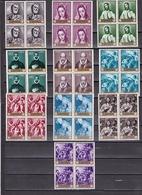 España Nº 1330 Al 1339 En Bloque De Cuatro - 1961-70 Nuevos & Fijasellos
