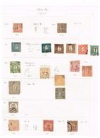 Japon Japan Ancienne Collection. Old Collection. Important Lot De Faux Classiques. Important Lot Of Early Forgeries. - Postzegels