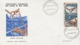 Enveloppe  1er  Jour  TERRITOIRE  FRANCAIS  Des  AFARS  Et  ISSAS    Sports  Nautiques   1968 - Afars Et Issas (1967-1977)