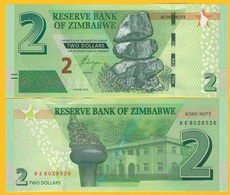 Zimbabwe 2 Dollars (Bond Note) P-99 2016 UNC Banknote - Zimbabwe