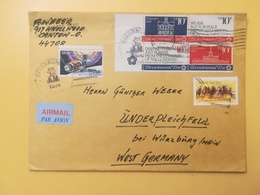 1974 BUSTA STATI UNITI UNITED STATES U.S. BOLLO QUARTINA CONGRESS CONTINENTAL ANNULLO OBLITERE' SAXONBURG - Storia Postale