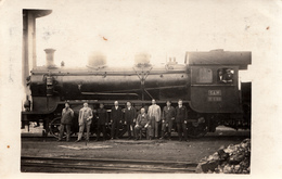 TRAIN , LOCOMOTIVE - NOVSKA , CROATIA 1927 - Trains
