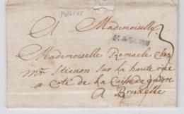 Précurseur - LAC De Durbuy Vers Bruxelles - Griffe Noire Marche - 1786 - 1714-1794 (Austrian Netherlands)