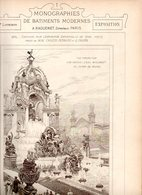 Monographies De Batiments Modernes N° 91 : Concours Pour L'exposition Universelle Paris 1900 - Architecture