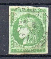 FRANCE : N° 42B . OBL .B . 1871 . SIGNE CALVES .  ( CATALOGUE YVERT ) . - Storia Postale (Francobolli Sciolti)
