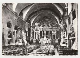06 Saint St Jeannet Vers Vence N°43 Intérieur De L'Eglise Du XVIIème En 1970 Choeur Chaire Décoration - Vence