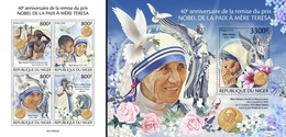 Niger 2019, Mother Teresa, 4val In BF +BF - Mutter Teresa